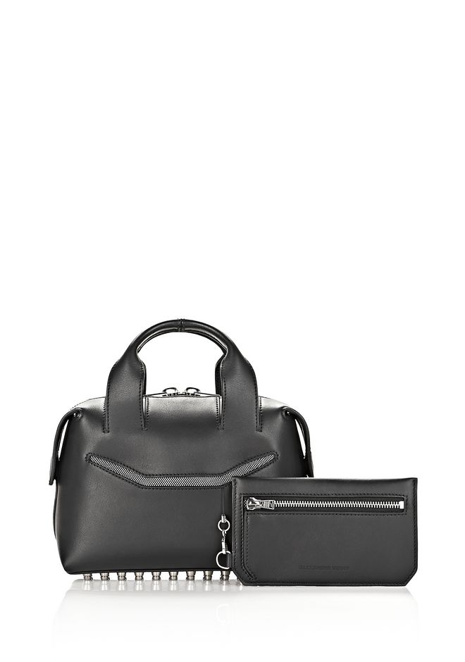 ALEXANDER WANG ROGUE SMALL SATCHEL IN BLACK WITH RHODIUM Shoulder bag Adult 12_n_e