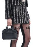 ALEXANDER WANG ROGUE SMALL SATCHEL IN BLACK WITH RHODIUM Shoulder bag Adult 8_n_r