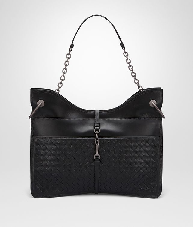 BOTTEGA VENETA BEVERLY '71/'16 BAG IN NERO INTRECCIATO NAPPA Shoulder or hobo bag D fp