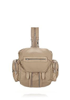 MARTI IN KHAKI LEATHER AND NYLON WITH RHODIUM