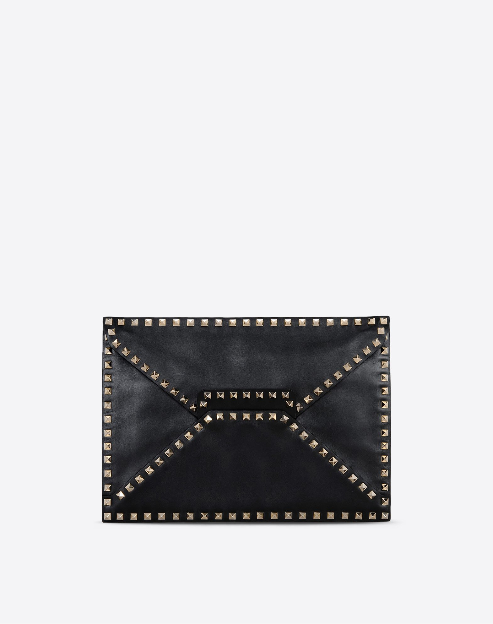 VALENTINO Studs Solid color Magnetic closure Leather lining Logo  45302845sj