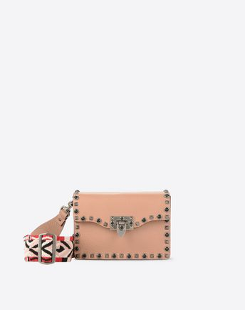 VALENTINO Guitar Rockstud Rolling small cross body bag 45302907OK