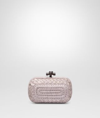 KNOT CLUTCH IN ROSE BUVARD EMBROIDERED AYERS