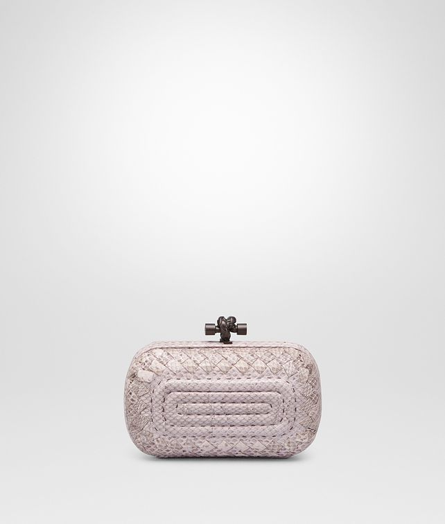 BOTTEGA VENETA KNOT IN ROSE BUVARD EMBROIDERED AYERS Clutch D fp