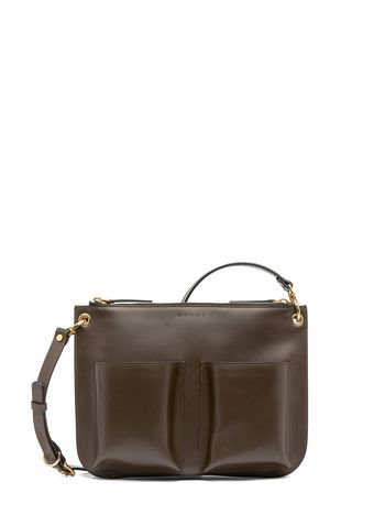 Marni POCKET bandoleer bag in matte Box calfskin  Woman