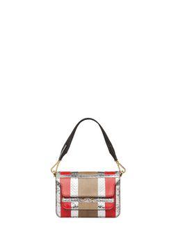 Marni MINI TRUNK bag in laminated Ayers  Woman