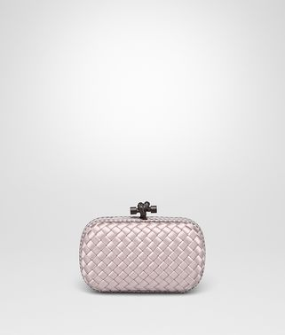 KNOT CLUTCH IN ROSE BUVARD INTRECCIO IMPERO WITH AYERS DETAILS