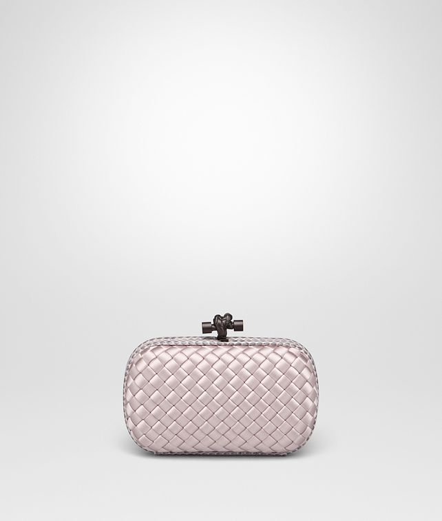 04caa00eea BOTTEGA VENETA KNOT IN ROSE BUVARD INTRECCIO IMPERO WITH AYERS DETAILS  Clutch