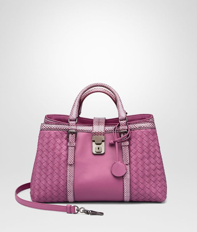 BOTTEGA VENETA SMALL ROMA BAG IN PEONY NAPPA WITH AYERS DETAILS Top Handle  Bag    9af116100a56a