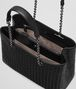 BOTTEGA VENETA BORSA SHOPPING MEDIA IN INTRECCIATO NAPPA NERO Borsa Shopping D dp