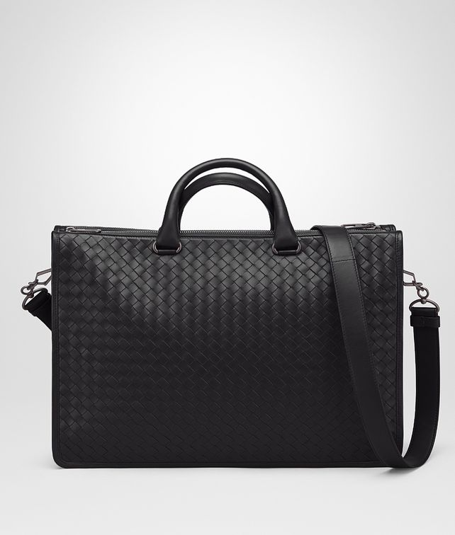 BOTTEGA VENETA AKTENTASCHE AUS INTRECCIATO KALBSLEDER IN NERO Business Tasche [*** pickupInStoreShippingNotGuaranteed_info ***] fp