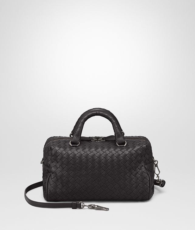 BOTTEGA VENETA MINI TOP HANDLE BAG IN NERO INTRECCIATO NAPPA Top Handle Bag Woman fp