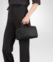 BOTTEGA VENETA MINI TOP HANDLE BAG IN NERO INTRECCIATO NAPPA Top Handle Bag Woman ap