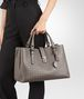 BOTTEGA VENETA MEDIUM ROMA BAG IN STEEL INTRECCIATO CALF Top Handle Bag D ap