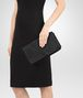 BOTTEGA VENETA CLUTCH BAG IN NERO INTRECCIATO NAPPA Clutch Woman ap