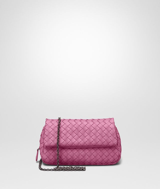 51db22608583 BOTTEGA VENETA MESSENGER BAG IN PEONY INTRECCIATO NAPPA Crossbody and Belt  Bags