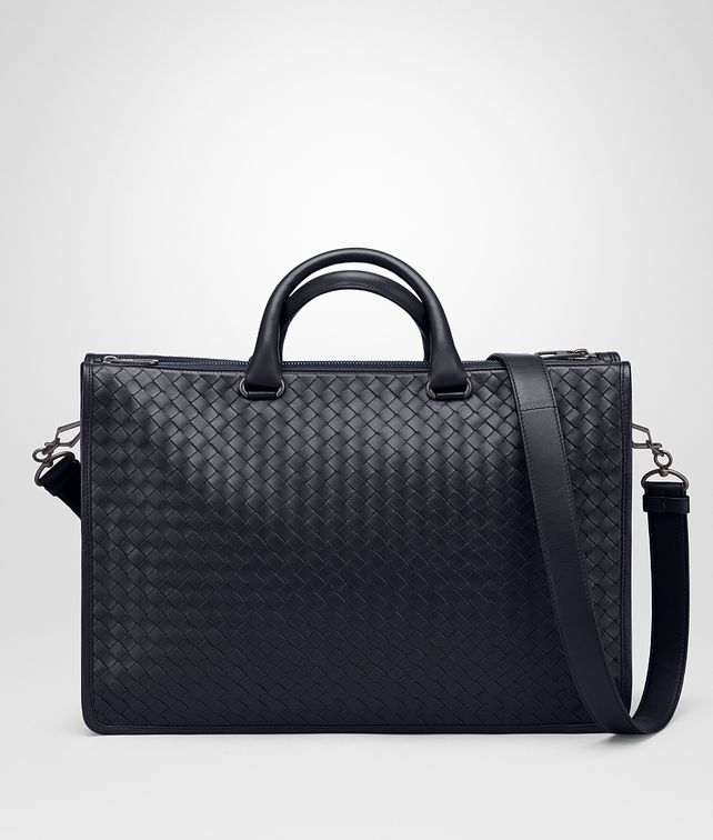BOTTEGA VENETA BRIEFCASE IN PRUSSE INTRECCIATO CALF Business bag Man fp