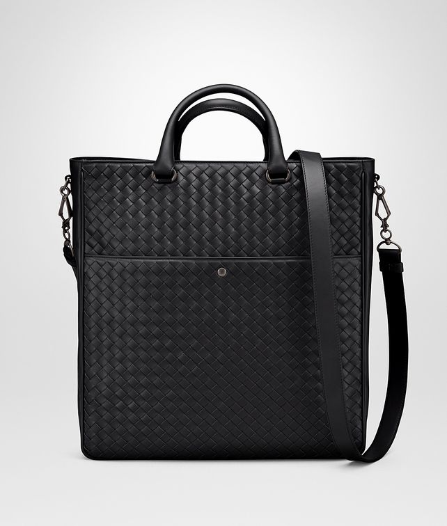 BOTTEGA VENETA TOTE BAG IN NERO INTRECCIATO VN Tote Bag Man fp