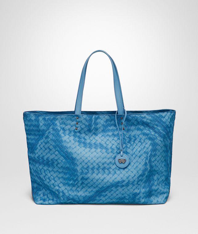 51488c6714 BOTTEGA VENETA MEDIUM TOTE BAG IN PEACOCK INTRECCIOLUSION Top Handle Bag       pickupInStoreShipping info