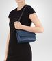 BOTTEGA VENETA BABY OLIMPIA BAG IN PACIFIC INTRECCIATO NAPPA Shoulder or hobo bag D lp