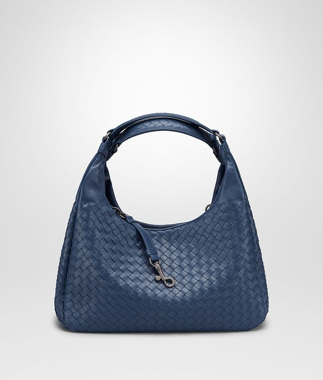 BOTTEGA VENETA MEDIUM CAMPANA BAG IN PACIFIC INTRECCIATO NAPPA Shoulder Bag Woman fp