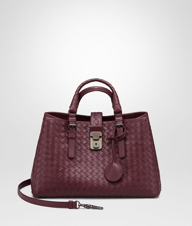BOTTEGA VENETA SMALL ROMA BAG IN BAROLO INTRECCIATO CALF Top Handle Bag D fp