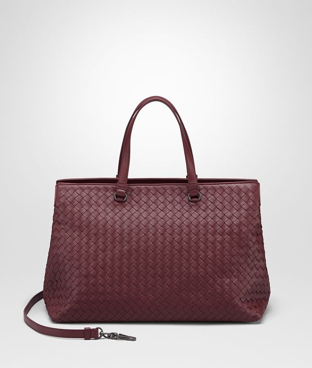 BOTTEGA VENETA LARGE TOP HANDLE BAG IN BAROLO INTRECCIATO NAPPA Top Handle Bag D fp