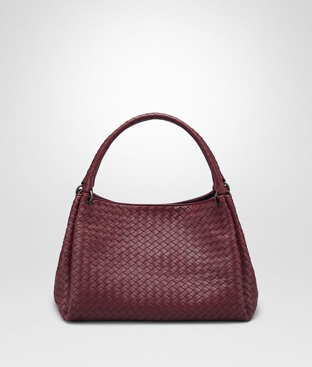BOTTEGA VENETA BORSA PARACHUTE MEDIA IN INTRECCIATO NAPPA BAROLO Shoulder Bag Donna fp
