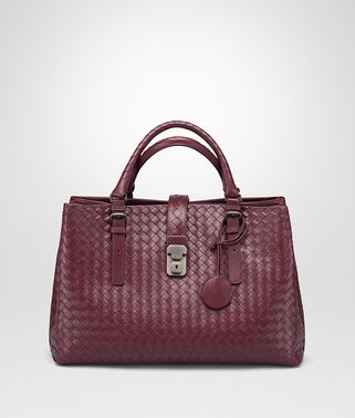 MEDIUM ROMA BAG IN BAROLO INTRECCIATO CALF
