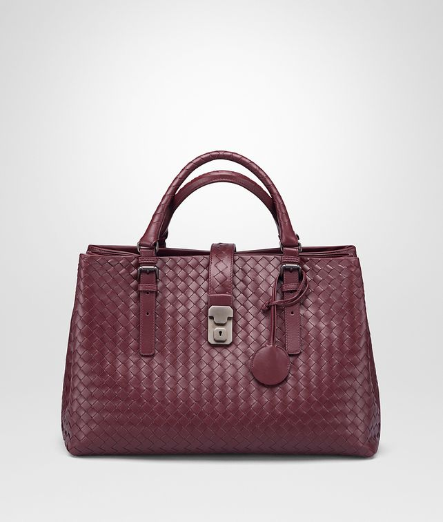 BOTTEGA VENETA MEDIUM ROMA BAG IN BAROLO INTRECCIATO CALF Top Handle Bag D fp