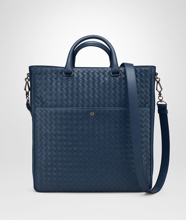 BOTTEGA VENETA TOTE BAG IN PACIFIC INTRECCIATO VN Tote Bag Man fp