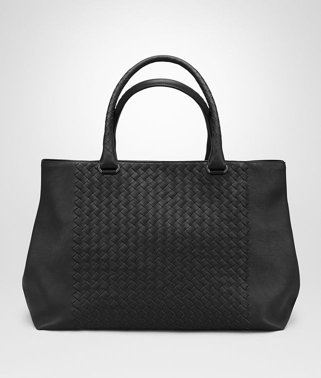 BOTTEGA VENETA TOTE BAG IN NERO INTRECCIATO NAPPA Tote Bag Man fp