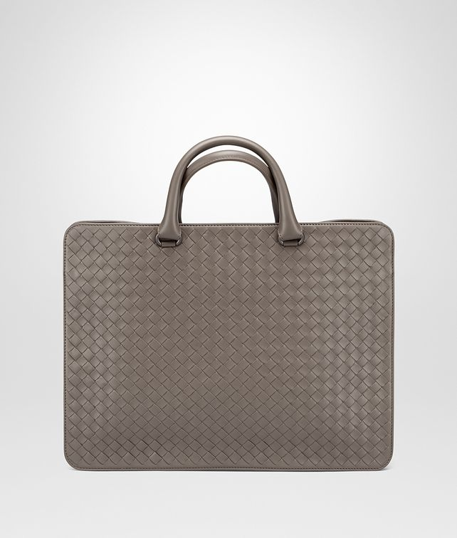 BOTTEGA VENETA BRIEFCASE IN STEEL INTRECCIATO CALF Business bag U fp