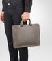 BOTTEGA VENETA BRIEFCASE IN STEEL INTRECCIATO CALF Business bag Man ap
