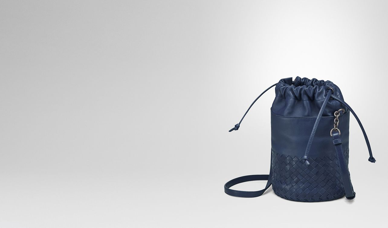 4ec304e9d239 bucket bag in pacific intrecciato calf and nappa landing. BOTTEGA VENETA ...