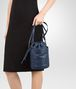 BOTTEGA VENETA BUCKET BAG IN PACIFIC INTRECCIATO CALF AND NAPPA Crossbody bag Woman lp