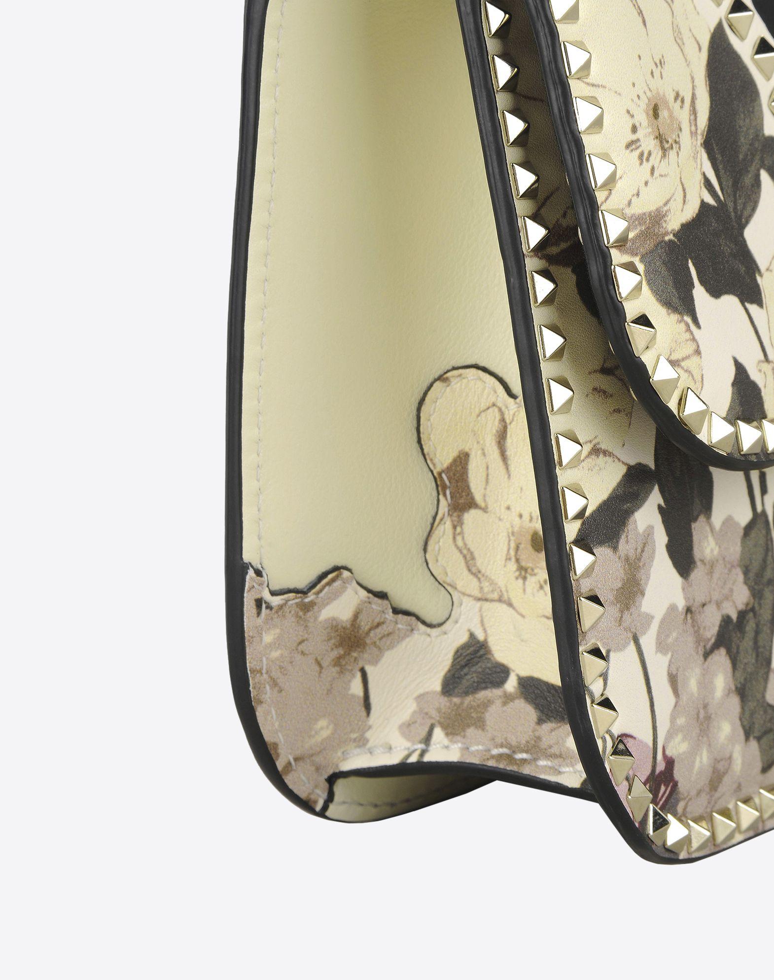 VALENTINO Studs Floral design Framed closure External pocket Internal zip pocket  45306970mh