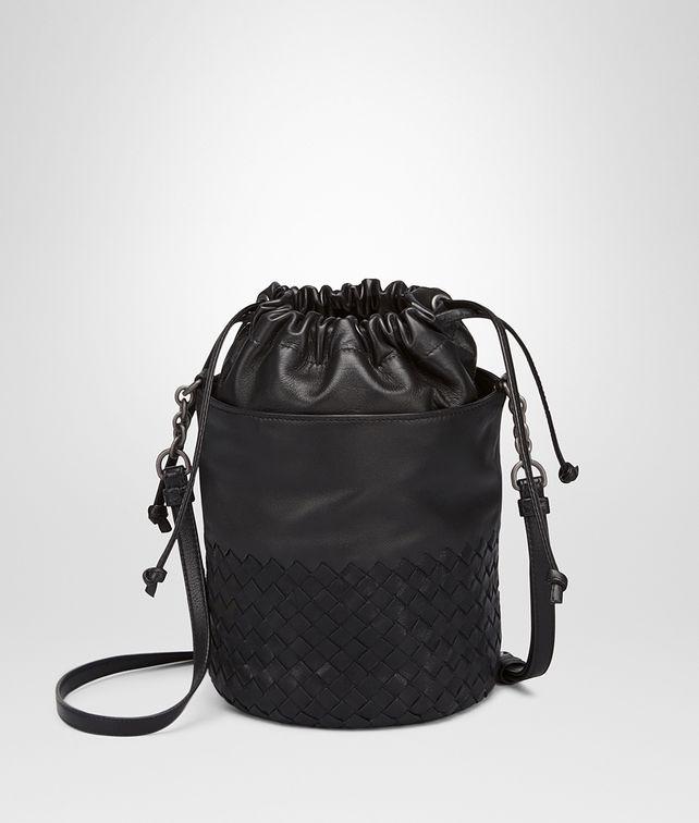 BOTTEGA VENETA BUCKET BAG IN NERO INTRECCIATO CALF AND NAPPA Crossbody bag D fp