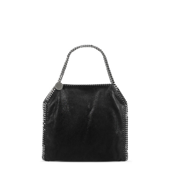 Ruthenium Falabella Shiny Dotted Chamois Small Tote