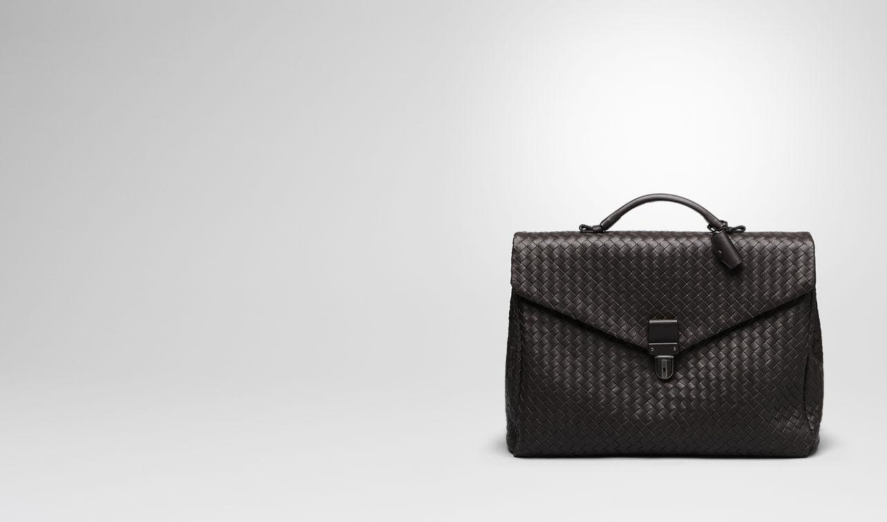 small briefcase in espresso intrecciato vn landing
