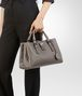 BOTTEGA VENETA SMALL ROMA BAG IN STEEL INTRECCIATO CALF Top Handle Bag D ap