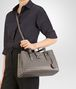 BOTTEGA VENETA SMALL ROMA BAG IN STEEL INTRECCIATO CALF Top Handle Bag D lp
