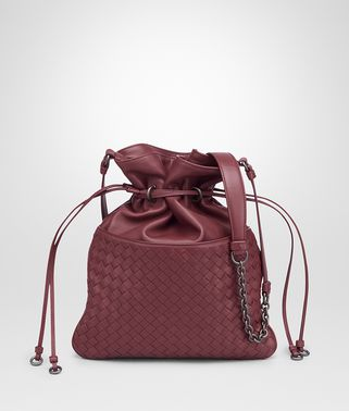 BUCKET BAG IN BAROLO INTRECCIATO NAPPA