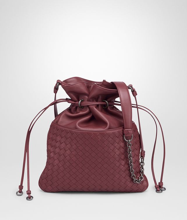 BOTTEGA VENETA BUCKET BAG IN BAROLO INTRECCIATO NAPPA Crossbody bag D fp