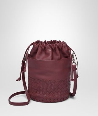 BUCKET BAG IN BAROLO INTRECCIATO CALF AND NAPPA