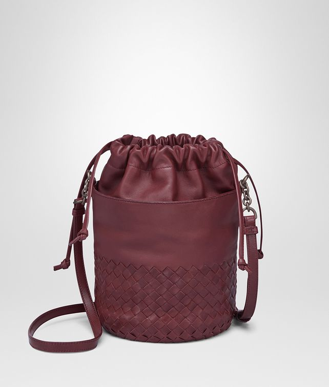 BOTTEGA VENETA BUCKET BAG IN BAROLO INTRECCIATO CALF AND NAPPA Crossbody bag D fp