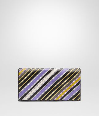 CLUTCH AUS NAPPA IN LAVENDER MULTI NERO