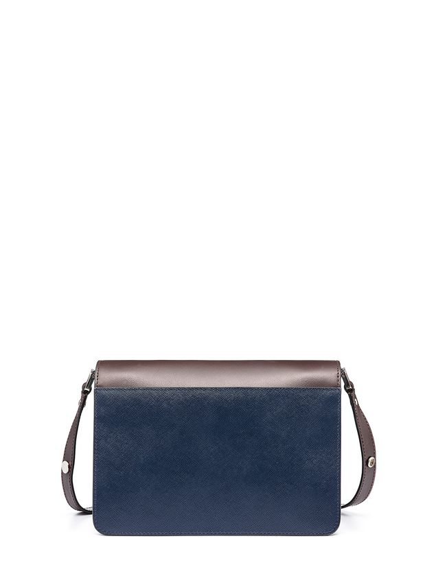Marni Tri-colored TRUNK bag in Saffiano calfskin Woman