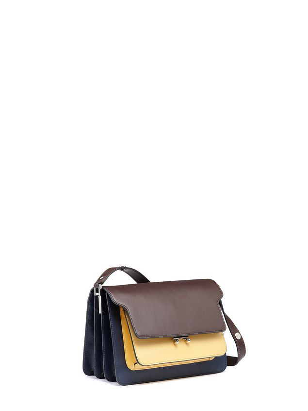 Marni Tri-colored TRUNK bag in Saffiano calfskin Woman - 2