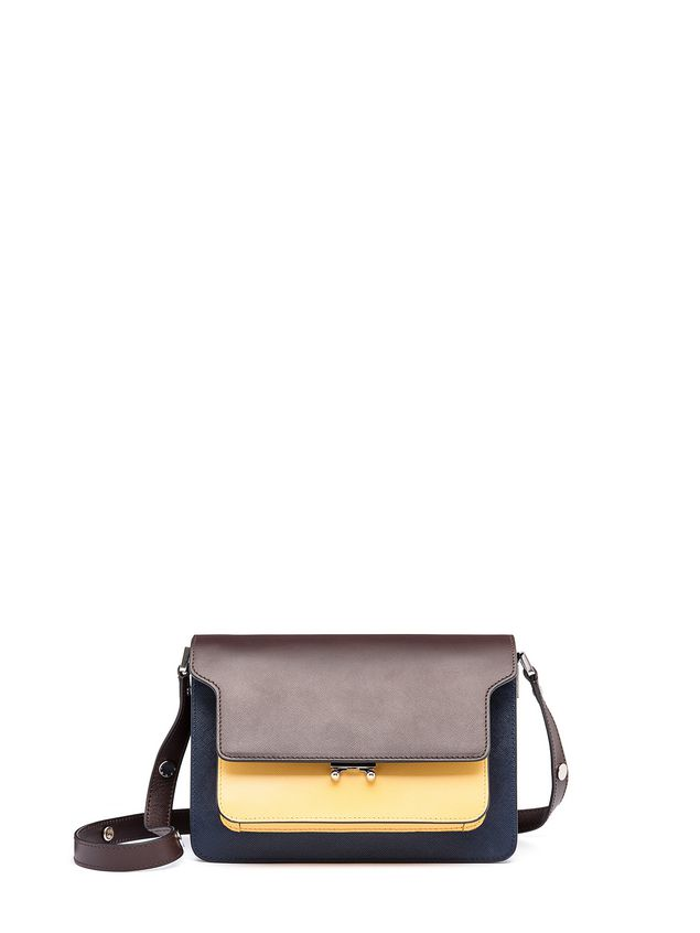 Marni Tri-colored TRUNK bag in Saffiano calfskin Woman - 1